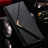 KISSCASE PU Leather Black iPhone Wallet Case
